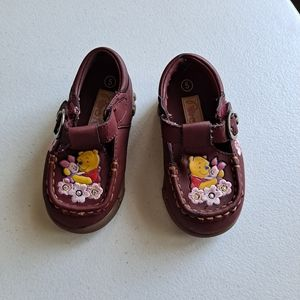 Winnie the Pooh Burgundy Loafer Shoes